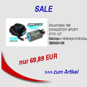 "Brushless-Set DRAGSTER SPORT RTR 12T ""Waterprof"" Sensorlos 69,89 EUR"